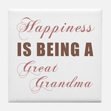 Great Grandma (Happiness) Tile Coaster