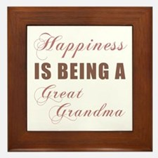 Great Grandma (Happiness) Framed Tile