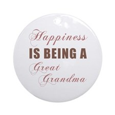 Great Grandma (Happiness) Ornament (Round)