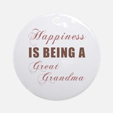 Great Grandma (Happiness) Ornament (Round)