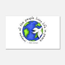 Imagine - World - Live in Peace Sticker (Rectangul