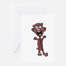 World Dominaion Weasel Greeting Card