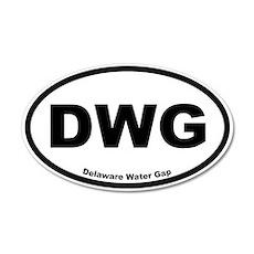 Delaware Water Gap 20x12 Oval Wall Peel