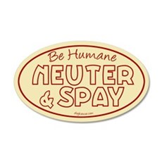 Be Humane (Red and Tan) 20x12 Oval Wall Peel