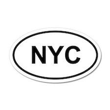 NYC 20x12 Oval Wall Peel