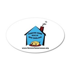 Forever Home Rescue 20x12 Oval Wall Peel