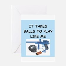 paintball Greeting Card