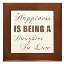 Daughter-In-Law (Happiness) Framed Tile