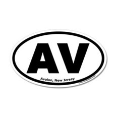 "Avalon, New Jersey ""AV"" 20x12 Oval Wall Peel"