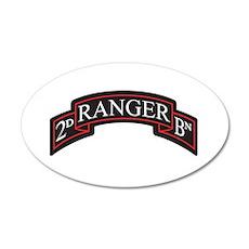 2D Ranger BN Scroll 20x12 Oval Wall Peel