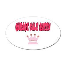 Garage Sale Queen 20x12 Oval Wall Peel