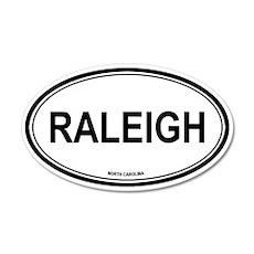 Raleigh (North Carolina) 20x12 Oval Wall Peel