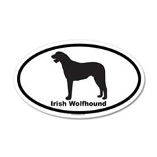 IRISH WOLFHOUND 20x12 Oval Wall Peel