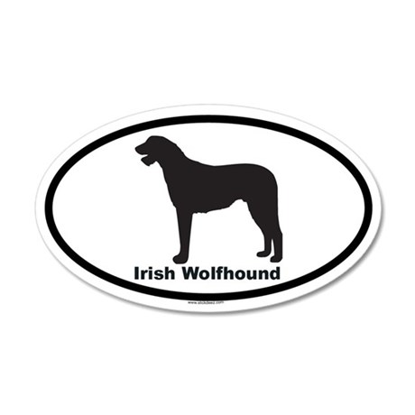IRISH WOLFHOUND 20x12 Oval Wall Peel