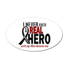 Never Knew A Hero 2 MELANOMA (Mom) 20x12 Oval Wall