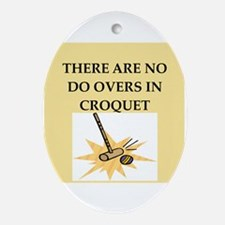 croquet Ornament (Oval)