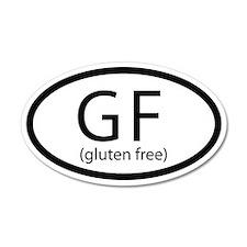Gluten Free Car Sticker Oval 20x12 Oval Wall Peel