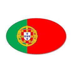 Portuguese Flag of Portugal 20x12 Oval Wall Peel