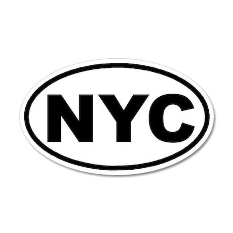NYC New York City Euro 20x12 Oval Wall Peel