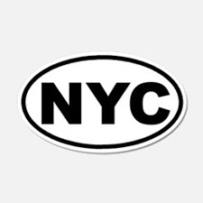 NYC New York City Euro 20x12 Oval Wall Peel
