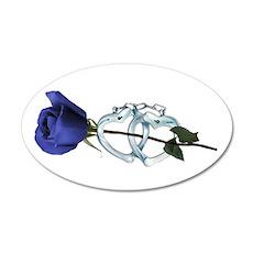 Rose/Cuffs 20x12 Oval Wall Peel