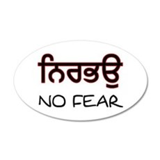 Nirbhau - No Fear 20x12 Oval Wall Peel