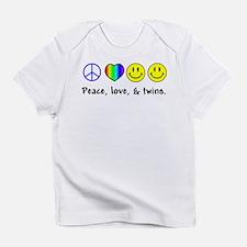 Peace, Love, & Twins Infant T-Shirt
