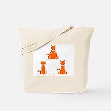 3 Cats Pyramid Tote Bag