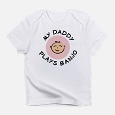 Creeper: Daddy Plays Banjo Pink Infant T-Shirt
