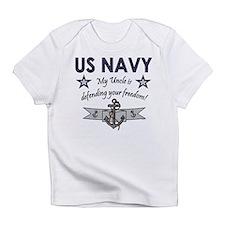 US NAVY Uncle defending Creeper Infant T-Shirt