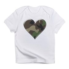 Camouflage Heart Military Love Creeper Infant T-Sh