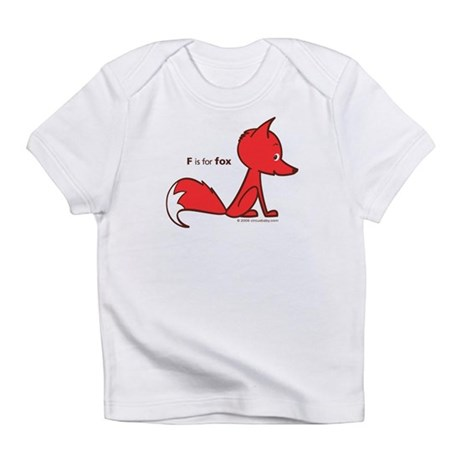 """F is for Fox"" Creeper Infant T-Shirt"