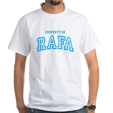 Property of Rafa White T-Shirt