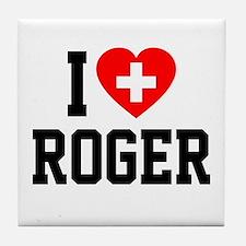 I Love Roger Tile Coaster