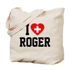 I Love Roger Tote Bag