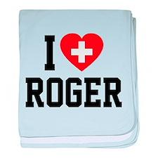 I Love Roger baby blanket