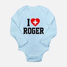 I Love Roger Long Sleeve Infant Bodysuit