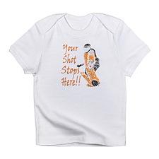 Hockey Goalie - Orange Creeper Infant T-Shirt