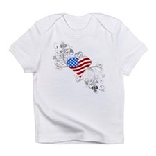 Independence Day Heart Infant T-Shirt