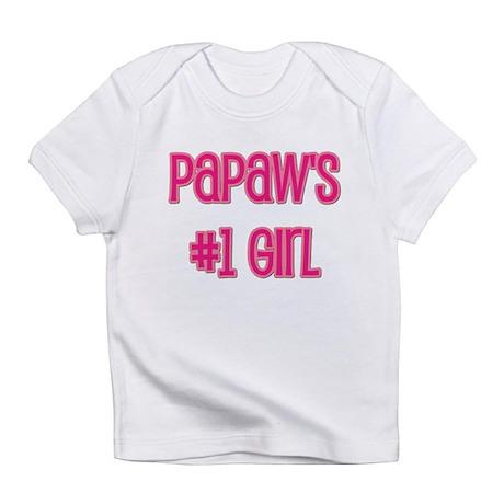 Papaw's #1 Girl Infant T-Shirt