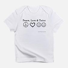 Peace, Love & Twins Creeper Infant T-Shirt