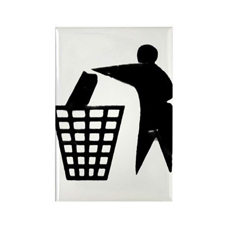 Trash Man Recycles Rectangle Magnet