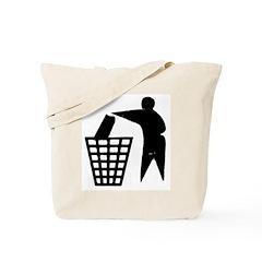 Trash Man Recycles Tote Bag