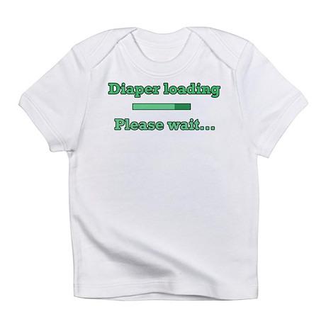 Green Diaper Loading Infant T-Shirt
