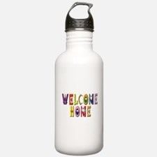 Welcome Home in color Water Bottle
