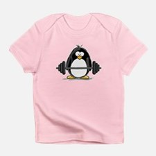 Weight lifting penguin Infant T-Shirt