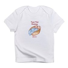 Basket Twins First Christmas Infant T-Shirt