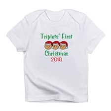 Triplets First Santa Hats Infant T-Shirt