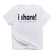 I Share! - Support Milk Banki Creeper Infant T-Shi