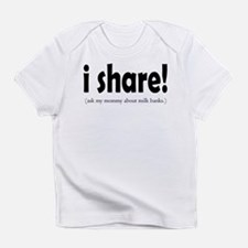 I Share! - Support Milk Banki Creeper Infant T-Shi